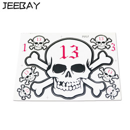 Number Decal Stickers Australia - JEEBAY Sticker moto Motorcycle accessories Fashion Number 13 Waterproof Angel Devil Skull Sticker Decal for helmets
