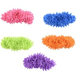 $enCountryForm.capitalKeyWord UK - 2pcs pair Top Fashion Special Offer Polyester Solid Dust Cleaner House Bathroom Floor Shoes Cover Cleaning Mop Slipper