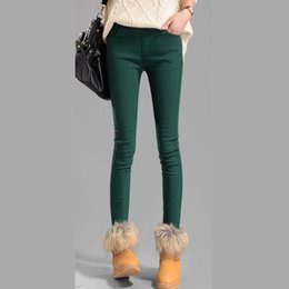 $enCountryForm.capitalKeyWord Australia - Hot Sale Autumn Winter Women Pants Velvet Thickening Leggings Trousers Female Warm Pencil Pants Thicker Elastic Trousers