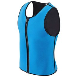 68047a9fbbc Pro-Leap Mens Neoprene Corset Solid Vest Style Waist Trainer Shaper  Boneless Soft Plus Size Sauna Sweating Men Body Shaper Fajas Bodysuit