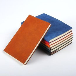 Notepad Leather A5 Australia - A5 Classic Notebook soft PU Leather Hard Cover Diary vintage Business Notepad 200 Sheets Note Book (7 Colors) School Office Notebooks LX6509