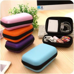Headphones Jewelry Australia - Storage Bag Case For Earphone EVA Headphone Case Container Cable Earbuds Storage Box Pouch Bag Holder(without