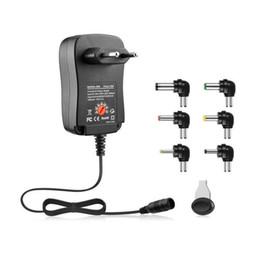 Toptan satış 3-12 V 30 W 2.1 A AC / DC güç kaynağı Adaptörü Evrensel şarj adaptörü ile 6 fişler ayarlanabilir gerilim regüle Güç Adaptörü