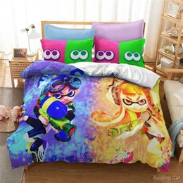 queen games Australia - Splatoon Game 3d Duvet Cover Set Pillowcase Printed Cartoon Bedding Set Comforter Cover Twin Full Queen King Free Shipping