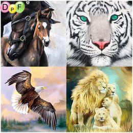 Tiger Tools Australia - DPF full Round Diamond Painting 5D Mosaic art crafts DIY round Magic Cube Cross Stitch horse tiger lion eagle Diamond Embroidery Decor gift