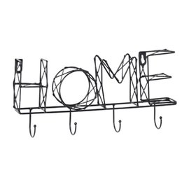 Wall letters art online shopping - Solid Bedroom Easy Install Hallway Iron Art Key Holder Letter Decorative Storage Hanging Entryway Organizer Wall Mounted Office