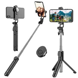 Tripod iphone sTand online shopping - Extendable Bluetooth Selfie Stick Tripod with Detachable Wireless Remote and Tripod Stand Selfie Stick for iPhone Samsung Huawei