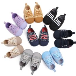$enCountryForm.capitalKeyWord Australia - Baby Boy Shoes Newborn Kids Toddlers Canvas Cotton Crib Shoes Lace Up Casual Shoes Prewalker First Walkers