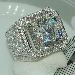849f35c58012 8 Fotos Compra Online Mejores gemas-Hiphip anillos de diamantes completos  para hombre de calidad superior para