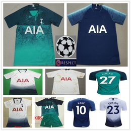 d3208b48f 2019 KANE Soccer Jerseys Home White 27 LUCAS ERIKSEN DELE Away Blue Green  2020 Hot Spur Adult Kids Youth Woman Man Football Shirt
