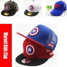 7f6cde94e8 Marvel DC super-heróis Cap Vingadores Endgame batman Hat Ajustável  Camionista Hip-Hop Lazer Snapback Boné de Beisebol Crianças Chapéu Marvel
