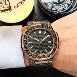 Watches For Men Automatic Sport Australia - Luxury Mechanical Automatic Watch For Men Top Quality Stainless Steel Case Rubber Strap Wristwatch Mens Fashion Nautilus Brand Watches
