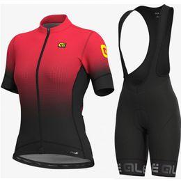 $enCountryForm.capitalKeyWord UK - 2019 Cycling jersey ALE new women bicycle short sleeve bib shorts sets Mtb bike racing sportswear cycling breathable clothing