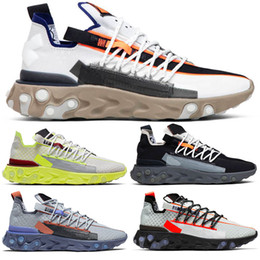 Chinese  React ISPA WR For Men Women Running Shoes Ghost Aqua Wolf Grey Platinum Volt Summit White Mens Trainer Fashion Sports Sneakers Size 36-45 manufacturers