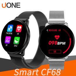 Smart watch tracker online shopping - CF68 Waterproof Smart Bracelet Band Wristband Bluetooth Intelligent Watch Fast Charging Fitbit Tracker Dynamic Heart Rate Music Control TWS