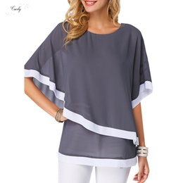 plus size clothing batwing shirt Australia - Blouse S Women 5Xl Plus Size Chiffon Shirt 2019 Summer Women Blouses Casual Shirt Batwing Sleeve Ladies Tops Femme Clothing