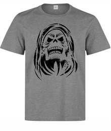 Silver Stencil Australia - He Man And The Masters Of The Universe Skeletor Stencil men's grey t shirt jacket croatia leather tshirt denim clothes camiseta t shirt