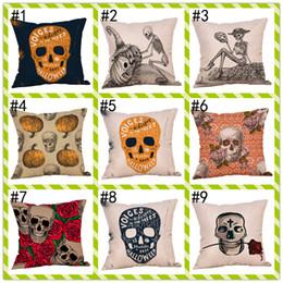 Skull Home Decor WholeSalerS Online Shopping   Bulk Cm Styles Linen  Halloween Skull Cushion Covers Bedroom