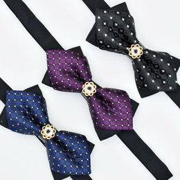Fashion Crystal Tie Australia - Fashion Men's adjustable Shinning Rhinestone Luxurious Neck crystal Bow Ties Shows Party Bowtie wedding accessories No box