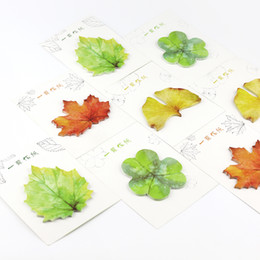 leaf post notes NZ - 36 pcs Lot Cute plant sticky notes Leaf post paper diary Adhesive sticker Book marker Office School supplies papelaria
