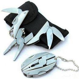 Vente en gros Multi fonction outil Pinces porte-clés Outdoor Sport Portable Mini Multitool Gadgets Forme Tortoise pliant tenailles Porte-clés LJJZ482