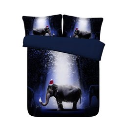 elephant bedding Australia - Elephant Print 3 Pieces Duvet Cover Sets With 2 Pillow Shams Super Soft Comforter Cover Animals Bedding With Zipper Closure For Kids Girls