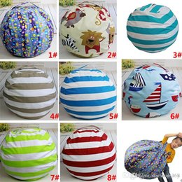 $enCountryForm.capitalKeyWord Australia - 8 Designs Plush Stuffed Toys Storage Bags Striped Printed Beanbag Chair Bedroom Mats Clothes Towel Storage Pouch Bag 62cm TY7-106