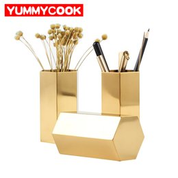 Pen Holder Storage Box Australia - Cosmetics Makeup Brushes Storage Box Office Organizer Jewelry Case Pencil Pen Holders Home Decoration Accessories Supplies