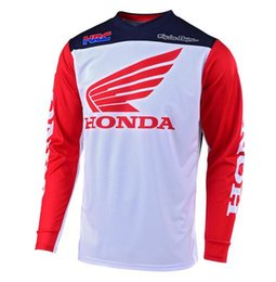 Honda long online shopping - TLD downhill HONDA HRC mountain bike top men s long sleeved summer off road motorcycle racing suit T shirt