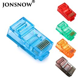 10pcs Plated Cat7 RJ45 Network Cable Connector 8P8C Coated Crystal Head Clamp AF