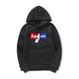 Velour hoodie online shopping - Mens New Pure Color Fashion Brand Letters Printing Fitness Large Size For Spring Time Casual Style Pullover Hoodies