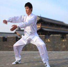 Kung Fu Suit Blue Australia - tang wudang silk kung fu uniform tai chi white chinese traditional uniformes clothes taiji uniform tai ji chi rayon suit