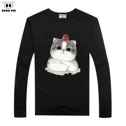 $enCountryForm.capitalKeyWord Australia - wholesale Long Sleeve T-Shirts For Boys Girls Tops Tees Cartoon Cat Children TShirt 2 3 4 5 6 7 Years T Shirts Baby