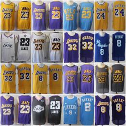 2019 New Los Angeles 23 Lakers LeBron 23 James jerseys Kobe 24 Bryant 8 Men 32  Johnson jersey Stitched e9be9dc10