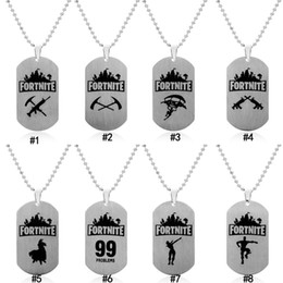 $enCountryForm.capitalKeyWord Australia - Hot Game Necklaces Men's Printing Engraving dog tag Pendant beaded chain Necklaces For women Fans Fashion Jewelry Gift