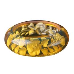 $enCountryForm.capitalKeyWord UK - Fine Jewelry Elegant Fashion Boutique Yellow Beeswax Bracelet Bangle Hand Catenary Hand Carved Flower Free Shipping