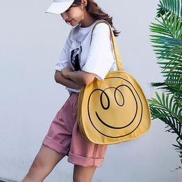 $enCountryForm.capitalKeyWord Australia - Ladies Canvas Shoulder Bag large capacity lightweight solid color Cute Handbag Wild Student Bag Women Shopping Beach