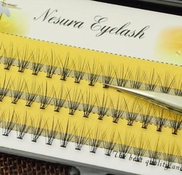 Individual False Eyelashes 14mm Australia - 1 Trays Natural Long Black Individual False Eyelashes Eye Lash Extension Makeup Tool 60 Knots 6-14mm Available