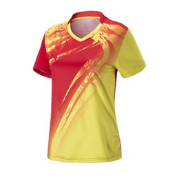 Clothes Kitting Australia - Women Tennis Shirts Outdoor Sports Kit Running Workout Clothing Fitness Tees Female Badminton Short Sleeve T-shirts Tops