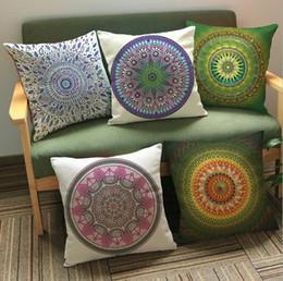 Car style pattern online shopping - 14 Styles cm Mandala Pillow Covers Cushion Cover Mandala Pattern Pillowcase Cushion Cover Home Sofa Car Decoration CCA11583