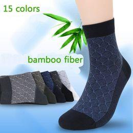 Fiber Pairs Australia - 10pcs =5 Pairs  Lot Bamboo Fiber Man 'S Fashion Casual Socks Health Comfortable Men 'S Men Sox High Qualtiy Business Socks