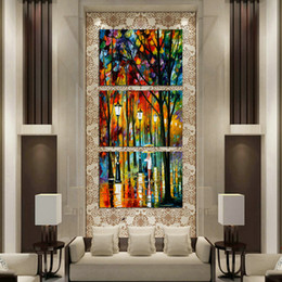 $enCountryForm.capitalKeyWord Australia - Oil Painting HD Print Leonid Afremov Abstract Lamps Trees Lady On Canvas Modern Decoration Wall Art Without Framed   With framed