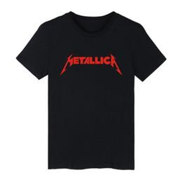 $enCountryForm.capitalKeyWord Australia - Mens Summer Tshirt European and American METALLICA Metal Band Print Short Sleeved Tshirt Hot Sale 4 Colors Plus Size Asian Size S-4XL