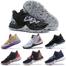 1232fb79cde 2019 Kyrie 5 PE Men Basketball Shoes Irving 5s Ikhet BHM CNY Bred Taco  Ikhet Black Magic Galaxy Mens Trainer Sports Sneakers 7-12