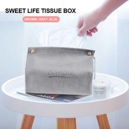 $enCountryForm.capitalKeyWord Australia - Paper Napkin Holder Tissue Box Bathroom Toilet Nordic Style PU Leather Storage Bag Office Car Restaurant Desktop Creative