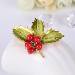 Fruits brooches online shopping - Flower brooch Christmas female cute fruit tree brooch pin fashion jewelry women s badge scarf accessories