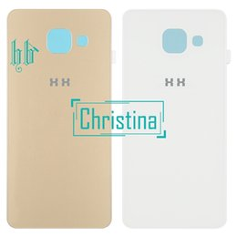 Galaxy A3 Housing Australia - 1pcs wholesale A3 Housing Glass Cover For Samsung Galaxy A3 2016 Back Cover Case A310 SM-A310F A310FD Battery Rear Door Free