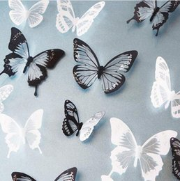 $enCountryForm.capitalKeyWord Australia - 18pcs lot 3d Effect Crystal Butterflies Wall Sticker Beautiful Butterfly for Kids Room Wall Decals Home Decoration On the Wall