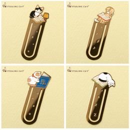 Stationery bookmarkS for bookS online shopping - 12 Metal iron bookmark for books Cute cat bookmarks Paper clip Stationery Office accessories School supplies