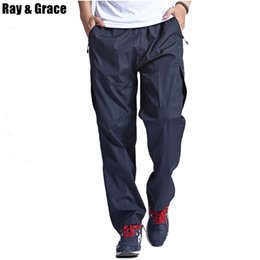b534f22d30bd RAY GRACE Quick Dry Outdoor Men Pants Breathable Summer Mesh Camping Trousers  Hiking Pants Running Sports Jogging Trekking